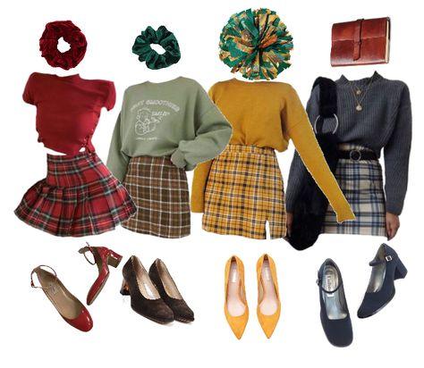 Harry Potter Kostüm, Harry Potter Outfits, Harry Potter Fashion, Hermione Granger Outfits, Slytherin Clothes, Hogwarts Outfit, Hogwarts Uniform, Heathers Costume, 80s Fashion