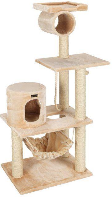 Armarkat Kratzbaum Cake B T H 90 50 158 Cm Beige Kratzbaum Katzenhohle Und Katze Hohle