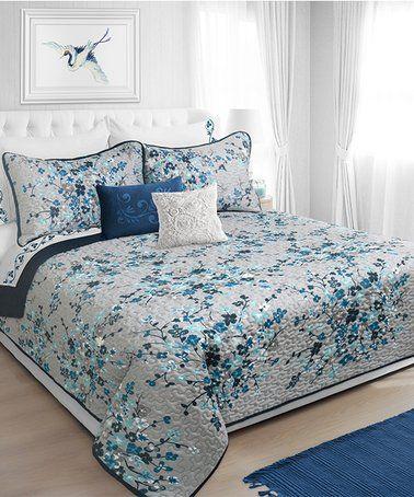 DOUBLE BED LINDA CREAM DUVET COVER SET EMBELLISHED FLORAL SCROLL CORD EFFECT