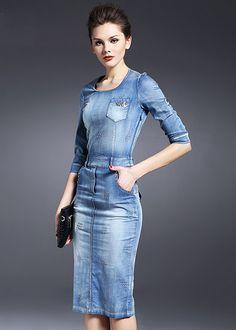 Midi kleid jeans