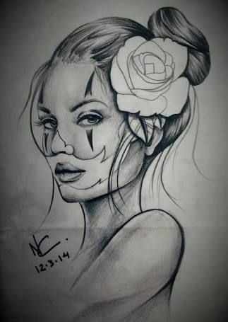 Resultado De Imagem Para Palhaca Tattoo Desenho Chicano Drawings