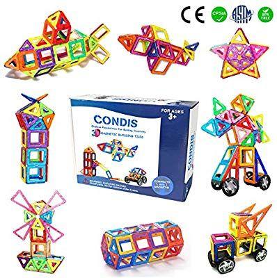 Condis Magnetische Bausteine Magnetspielzeug Magnete Kinder Magnetbausteine Magnet Spielzeug Kind Spielzeug Madchen Kinder Spielzeug Kinderspielzeug