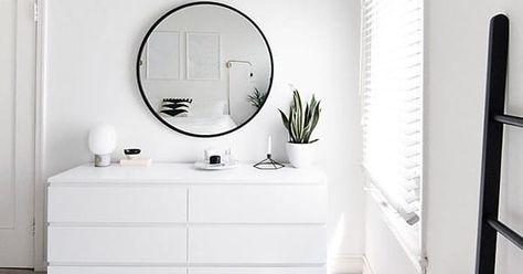 weiße Kommode-Minimal-Schlafzimmer white dresser-minimal bedroom white dresser-minimal bedroom The post white dresser-minimal bedroom appeared first on furnishings ideas.