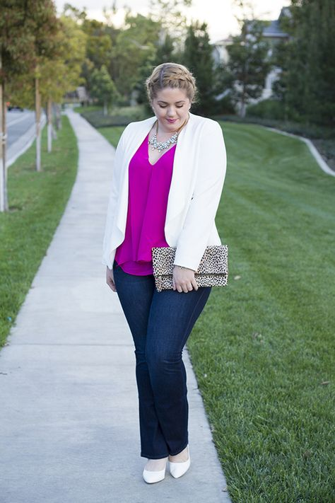 Pretty in Pre-Spring Pink. Top and blazer both found at Marshalls!