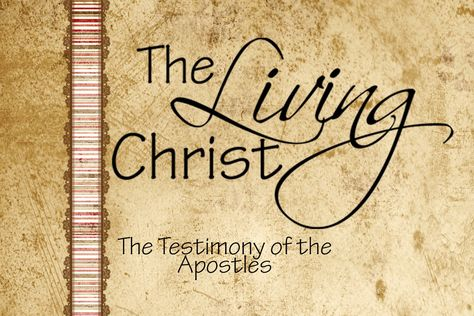 The Living Christ -  set includes 15 cards (plus 1 title card) to help you and your family memorize The Living Christ.  (Free Printable Download)