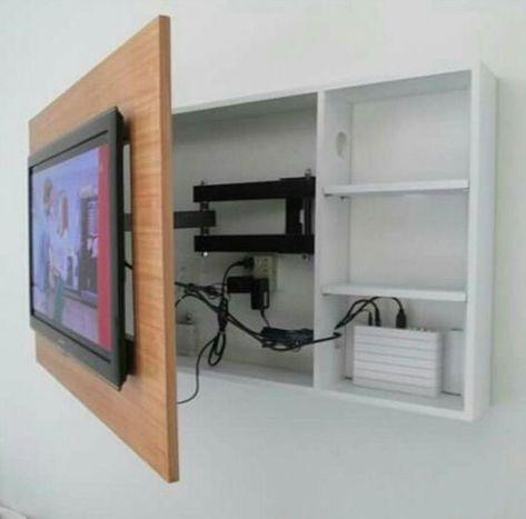 14 modèles d\'intégration de télévision réussie | Desks | Mobilier de ...