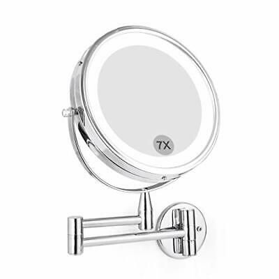 Wall Mounted Led Magnifying Mirror 7x Makeup 8 Lighted 1x 7x With Light Ebay In 2020 Magnifying Mirror Extendable Mirrors Mirror
