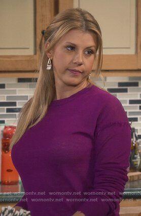 Stephanie S Purple Frayed Sweater On Fuller House Fuller House Stephanie Tanner Fuller House Episodes