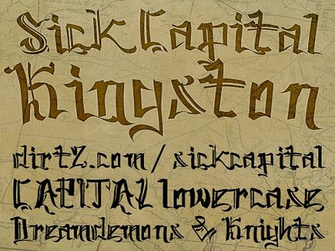 Cool Tattoo Fonts: Elegant SickCapital Kingston Tattoo Font ~ tattoosartdesigns.com Tattoo Ideas Inspiration