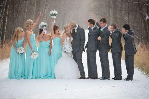 Tiffany Blue Winter Wedding Snow Falls And Weddings