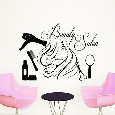 Wall Decal Quote Beauty #salon Make-Up Girl Woman Decals Vinyl Stickers Art Lm33