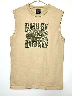 Details About Harley Davidson Mens Sleeveless Shirt Beige Al Capone Chicago Tank Top Medium In 2020 With Images Mens Sleeveless Shirts Shirts Sleeveless Shirt