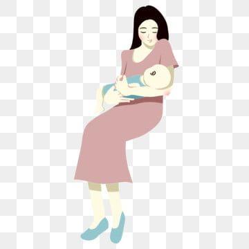 مرسومة باليد رسوم متحركة الأم والطفل الرضاعة الطبيعية أم طفل حب الأمومة Png وملف Psd للتحميل مجانا Mother Feeding Baby Baby Cartoon Elephant Background