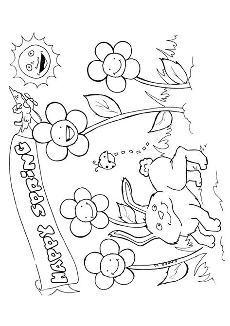 14 Places to Find Free, Printable Spring Coloring Pages | 670x473