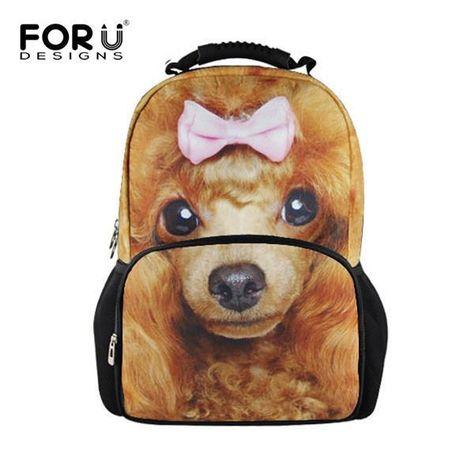 977cf9284c FORUDESIGNS Cool Animal Owl Wolf Backpacks Children 3D Printing School  Backpack for Teenagers Boys Men s Travel Bag Kids Mochila