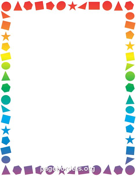 Printable shapes border. Free GIF, JPG, PDF, and PNG downloads at http://pageborders.org/download/shapes-border/