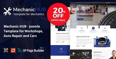 Mechanic HUB — Car Repair Joomla Template | Stylelib