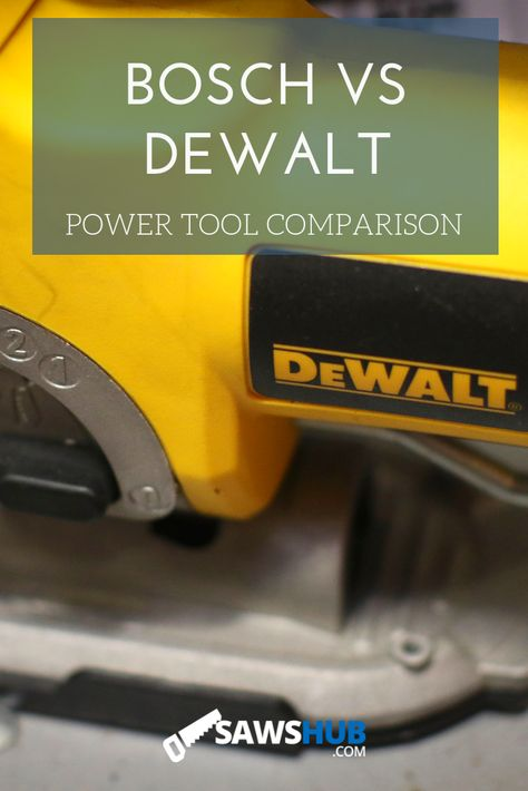 Learn what separates Bosch and Dewalt in their power tools and saws, with comparisons and reviews across price, quality, innovation, warranty, accuracy, precision, weight, and history. #sawshub #woodworking #DIY #tools #saw #comparison #bosch #dewalt