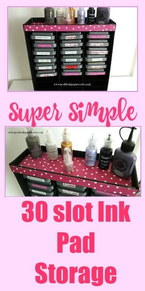 30 Ink Pad Holder