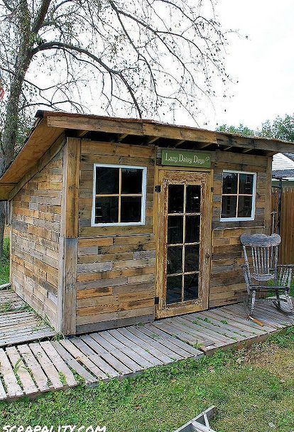 10 Free Plans To Build A Shed From Recycle Pallet Pallets, Pallet