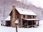 beautiful old log cabin