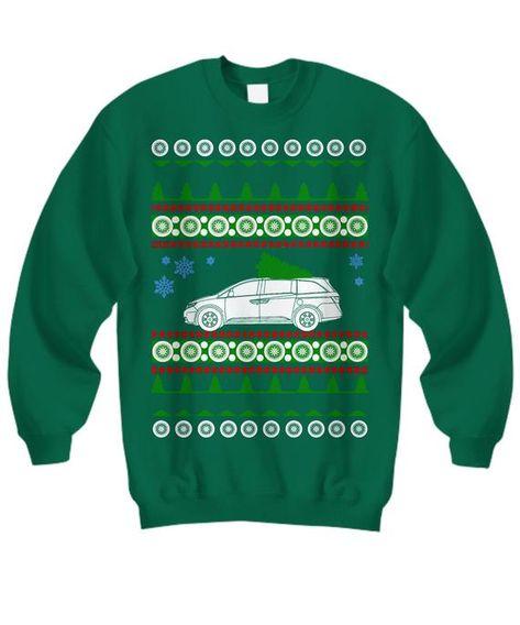 Minivan Ugly Christmas Sweater like Odyssey Honda Xmas Gift soccer mom family hauler party gift toyo