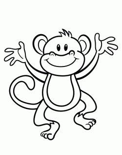 Maymun Boyama Sayfasi Adult Coloring Pages Maymunlar Ve Hayvan