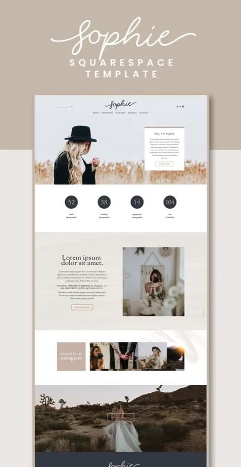 Sophie Squarespace Template Kit