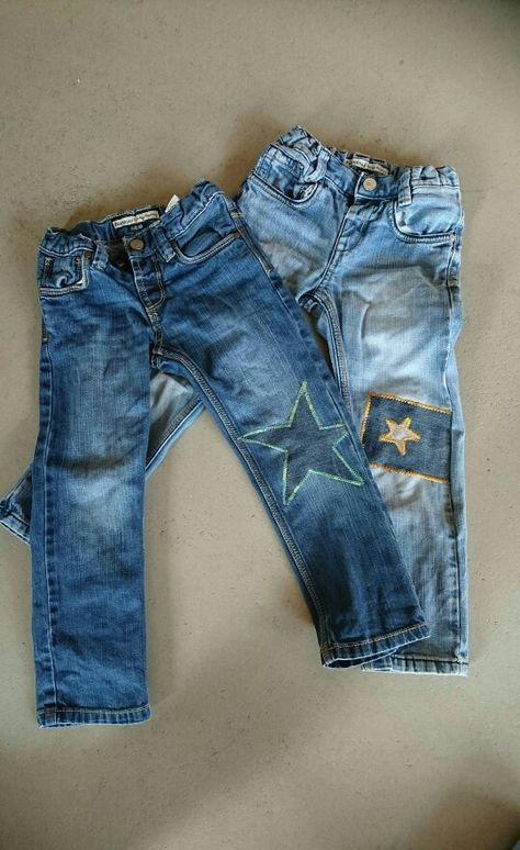 Minus eine plus zwei... Geflickte Jeans :-)