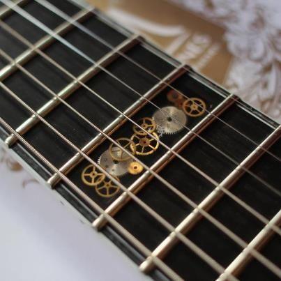 Inlay On Pinterest Guitar Martin Guitars And Acoustic Guitars Guitar Inlay Steampunk Guitar Guitar Design