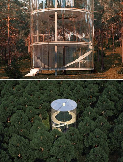the 240000 tree in a house metal pole spiral staircases and staircases - Cylinder Home Floor Plans
