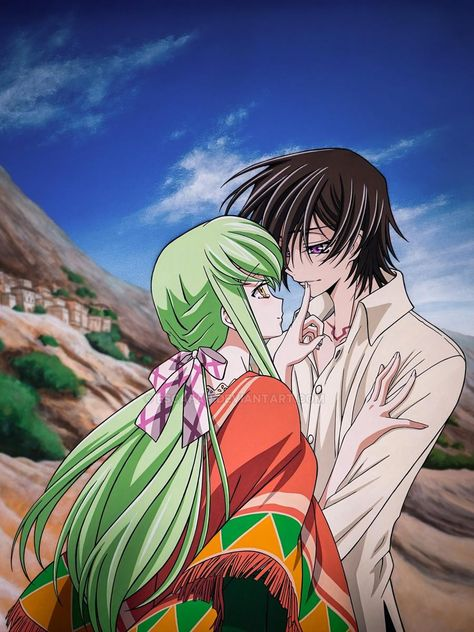 Lelouch and C.C Code Geass movie by escafan on DeviantArt Anime Echii, Anime Couples Manga, Anime Angel, Cute Anime Couples, Anime Art, Anime Girls, Cute Anime Pics, Anime Love, Code Geass Wallpaper