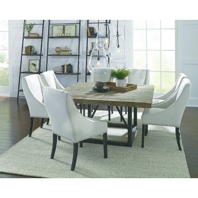 Laurel Foundry Modern Farmhouse Kailey Dining Table Wayfair 1000 In 2020 Square Dining Tables Luxury Dining Room Square Dining Room Table