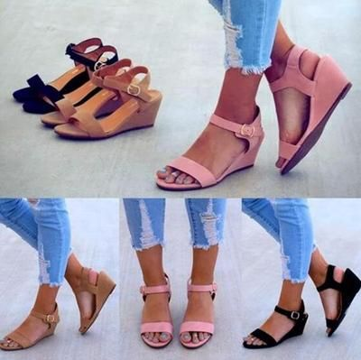 Wedge sandals, Flat lace up shoes