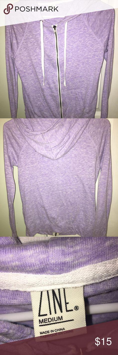 Light purple zip up hoodie BRAND NEW- tags removed but Never worn - women's size medium - thin zip up hoodie Zine Tops Sweatshirts & Hoodies