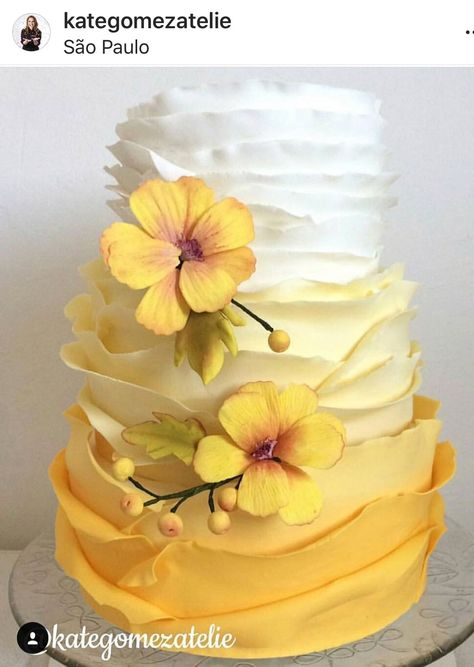 Jimin is a heartbroken omega when he finds out his boyfriend cheated … Gorgeous Cakes, Pretty Cakes, Amazing Cakes, Tea Cakes, Cupcake Cakes, Shoe Cakes, Cupcakes, Yellow Birthday Cakes, Yellow Wedding Cakes