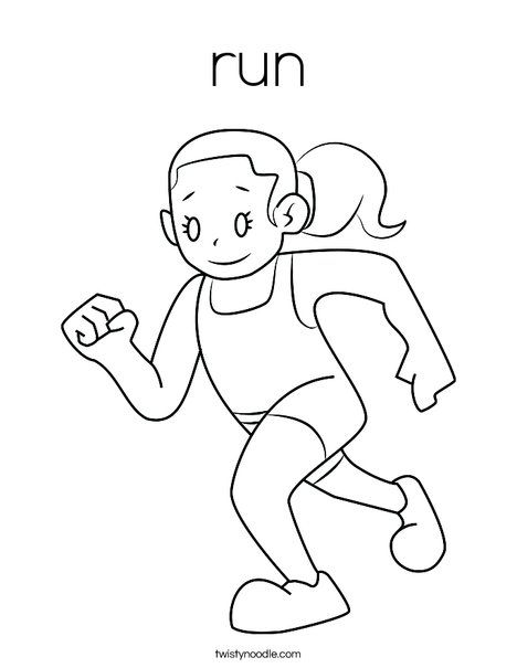 Girl Running Coloring Page Coloring Pages Bee Coloring Pages
