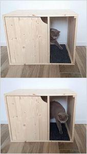 Katzentoilettenabdeckung Haustiermobel Katzenhaus Moderner