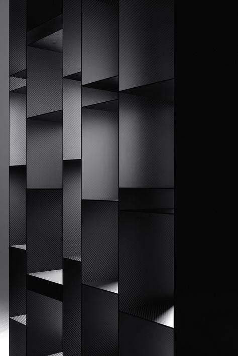 Libreria in carbonio RANDOM 10TH ANNIVERSARY EDITION by MDF Italia design Neuland Industriaedesign