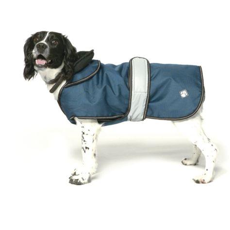 Navy Reflective Dog Coat Waterproof Dog Coats Dog Coats Fleece