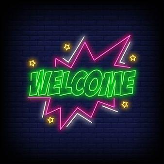 Welcome Neon Sign Text Neon Signs Neon Neon Wallpaper
