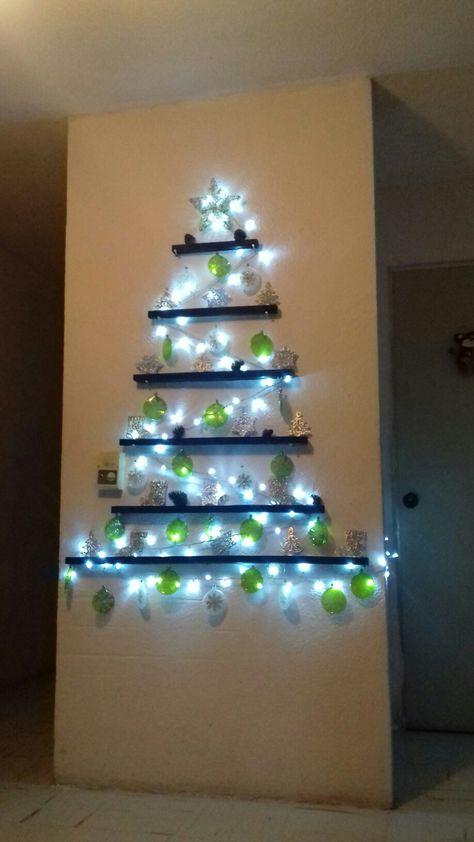 96 Ideas De árbol De Navidad Para Pared Arbol De Navidad Navidad Arbol De Navidad Pared
