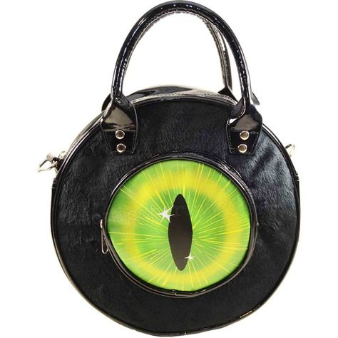 Eyeball Bag Black Cat Bag Purse hex symbols Gothic Horror Kreepsville 666