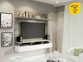 Floating Tv Wall Unit Vela Sahara 1 Tone Tv Wall Unit Tv Wall