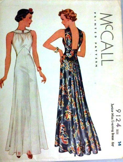 Mccall 9124 Vintagedresses In 2020 Evening Dress Patterns Vintage Dress Patterns Dress Patterns