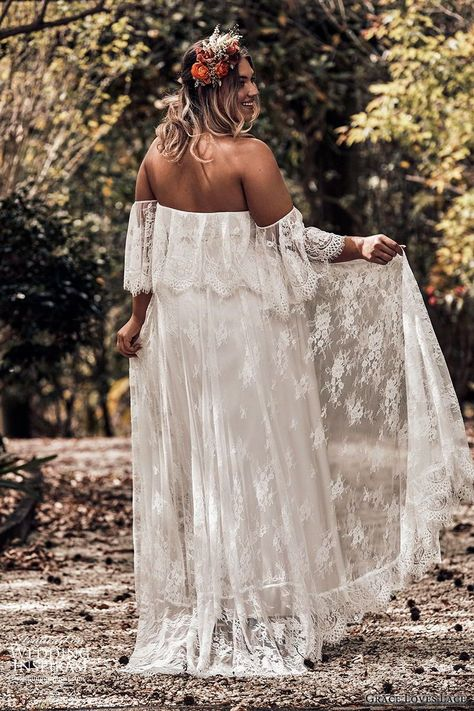 "Weddinginspirasi.com featuring - grace loves lace 2019 bridal strapless detached flutter sleeves semi sweetheart soft a line embellished lace wedding dress sweep train plus size boho romantic (4) bv -- Grace Loves Lace 2019 Wedding Dresses #wedding #weddings #bridal #weddingdress #weddingdresses #bride #fashion ~ #beach wedding dress plus size Grace Loves Lace 2019 Wedding Dresses — ""Icon"" Bridal Collection 