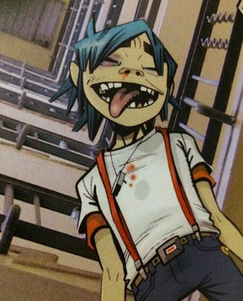 Discovered by Silvana. Find images and videos about gorillaz on We Heart It - the app to get lost in what you love. Tank Girl, Damon Albarn, Gorillaz 2 D, Jamie Hewlett Art, Monster Museum, Monkeys Band, The Wombats, 17th Century Art, Blur