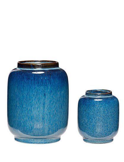 Vasen Keramik Von Haœbsch Interior Vase Keramik Blaue Keramik