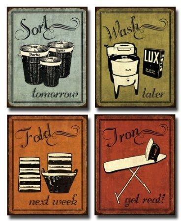 Laundry Room Decor : Vintage Laundry Room Signs & Fun Rugs