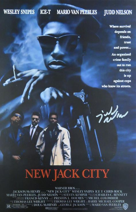 Judd Nelson Signed New Jack City 11x17 Movie Poster